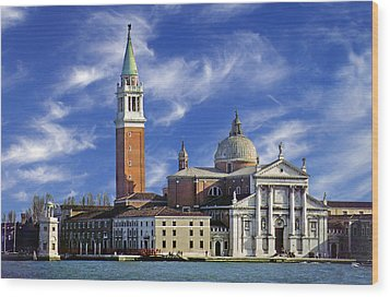Wood Print featuring the photograph San Giorgio by Rod Jones
