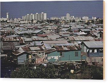 San Juan Puerto Rico. Modern Buildings Wood Print by Everett