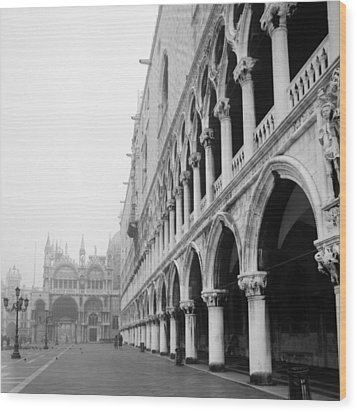 Wood Print featuring the photograph San Marco Square In Venice by Emanuel Tanjala