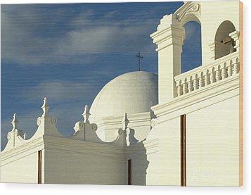 San Xavier Del Bac Mission Arizona Wood Print by Bob Christopher