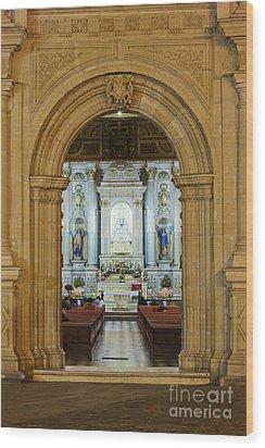 Sanctuary Of La Basílica De La Virgen De La Soledad Wood Print by Jeremy Woodhouse