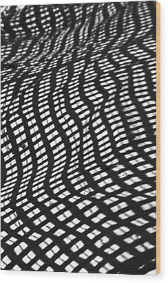 Sand Checkers Wood Print by Randall  Cogle