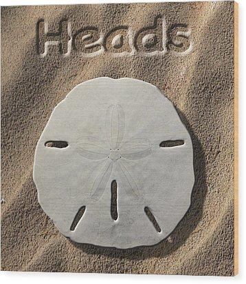 Sand Dollar Heads Wood Print by Mike McGlothlen