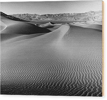 Sand Dune-death Valley Wood Print