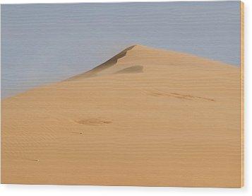 Sand Dune Wood Print by Heather Applegate