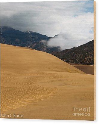 Wood Print featuring the photograph Sand In The Mountains by John Burns