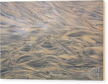 Wood Print featuring the photograph Sand Patterns by Nareeta Martin