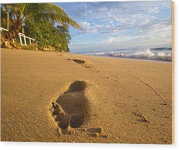 Sand Prints Wood Print by Tim Fitzwater