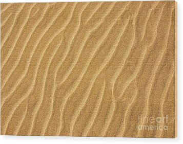 Sand Ripples Abstract Wood Print by Elena Elisseeva