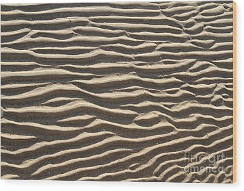 Sand Ripples Wood Print by Photo Researchers, Inc.