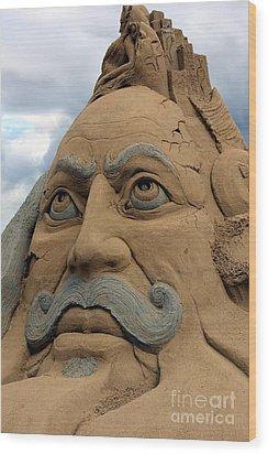 Sand Sculpture Wood Print by Sophie Vigneault
