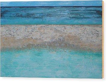 Sandbar Wood Print