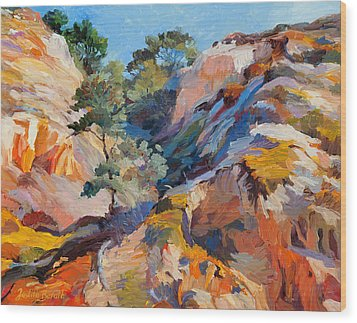 Sandstone Canyon Wood Print