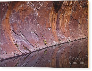 Sandstone Reality Wood Print by Mike  Dawson