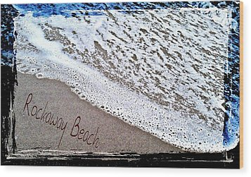 Sandwriting Wood Print