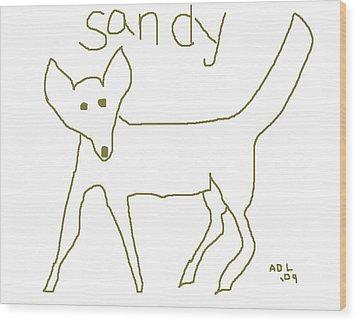 Sandy Wood Print by Anita Dale Livaditis