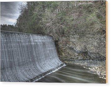 Sandy Hook Mill Dam Wood Print by David Clark