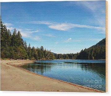 Sanjo Beach Wood Print