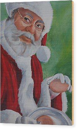 Santa 2012 Wood Print