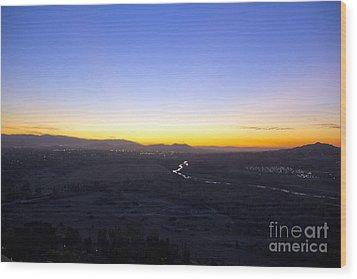 Santa Ana River Wood Print by Molly Heng