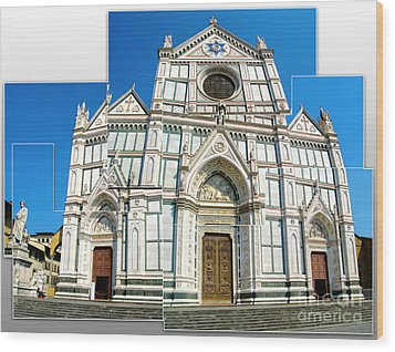 Santa Croce Wood Print by Gregory Dyer