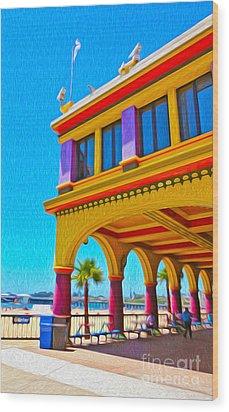 Santa Cruz Boardwalk - Arcade -01 Wood Print by Gregory Dyer