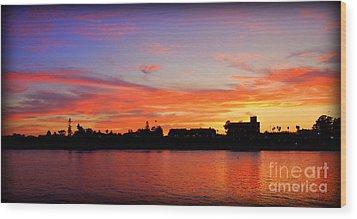 Santa Cruz Sunset 2 Wood Print by Garnett  Jaeger