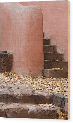 Santa Fe Adobe Wood Print by Denice Breaux