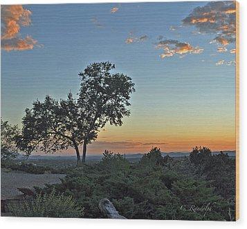 Santa Fe Sunset Wood Print by Cheri Randolph