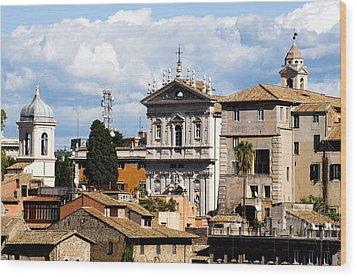 Santi Domenico E Sisto Wood Print by Fabrizio Troiani