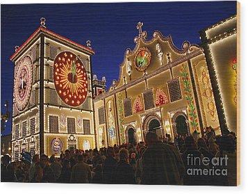 Santo Cristo Festivities Wood Print by Gaspar Avila