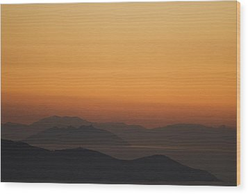 Santo Stefano Coastline At Sunset Wood Print by Axiom Photographic