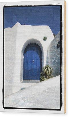Santorini 1 Wood Print by Mauro Celotti