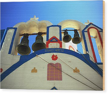 Wood Print featuring the photograph Santorini Thirasia Island Greece by Colette V Hera  Guggenheim