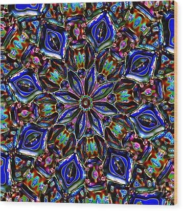 Sapphire Surprise Wood Print by Alec Drake