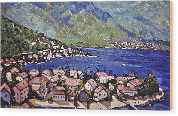 Wood Print featuring the painting Sardinia On The Blue Mediterranean Sea by Rita Brown