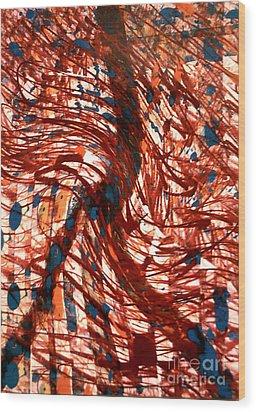 Sashay Peace Wood Print by Robert Haigh