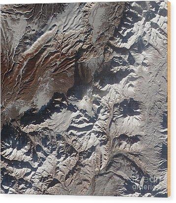 Satellite Image Of Russias Kizimen Wood Print by Stocktrek Images