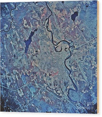 Satellite View Of Concord, New Wood Print by Stocktrek Images