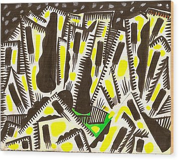 Saturday Night Headed For The City Wood Print by Al Goldfarb