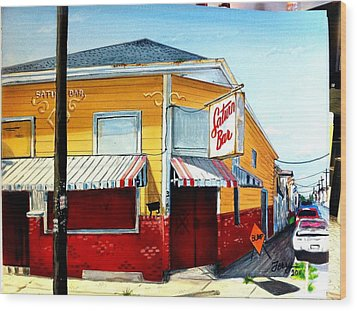 Saturn Bar Wood Print by Terry J Marks Sr