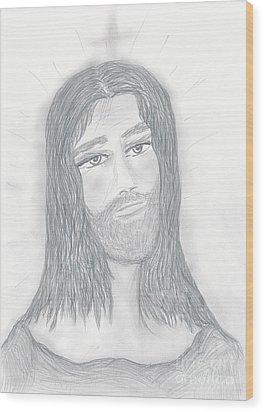 Savior Wood Print by Sonya Chalmers
