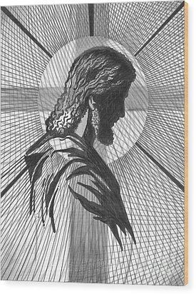 Saviour Wood Print by Peter Olsen