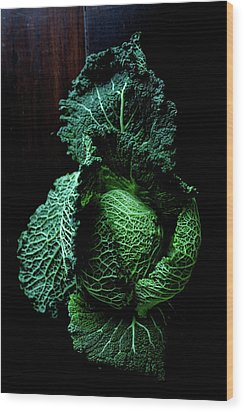 Savoy Cabbage Wood Print by Ingwervanille