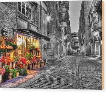 Say It With Flowers - Hdr Wood Print by Colin J Williams Photography