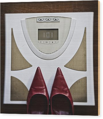 Scale Wood Print by Joana Kruse