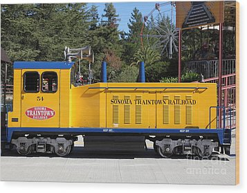 Scale Locomotive - Traintown Sonoma California - 5d19237 Wood Print by Wingsdomain Art and Photography
