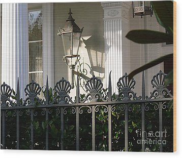 Wood Print featuring the photograph Scallop Fence by Jeanne  Woods