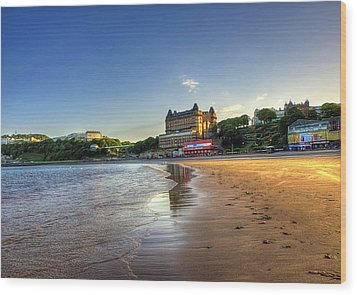 Scarborough Eve Wood Print by Svetlana Sewell