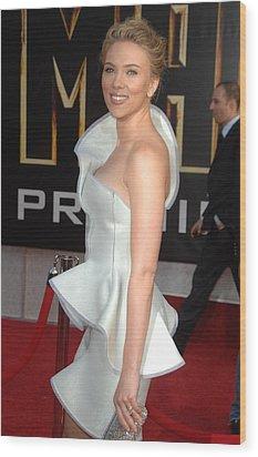 Scarlett Johansson Wearing An Armani Wood Print by Everett